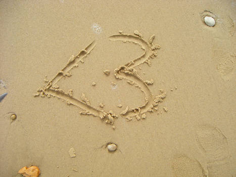 I drew your name in the sand..