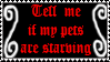 Ovipets Tell me if my pets are starving stamp by princessbarb21