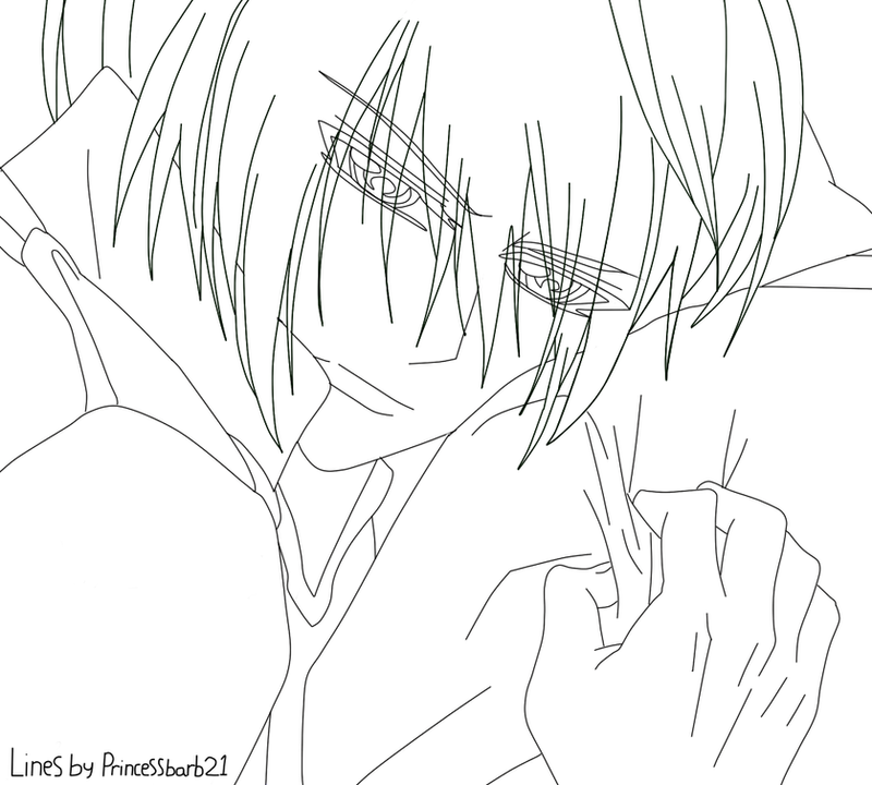 Line Art Layer : Ichiru kiryu lineart by princessbarb on deviantart