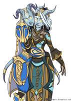 Draenei sisters by Hazelmutt