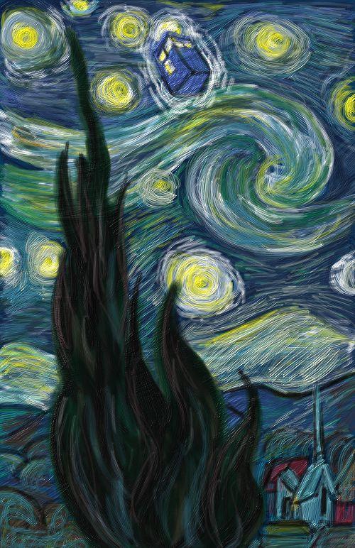 Van Gogh Starry Night Tardis Tardis Starry Night by Msgabc
