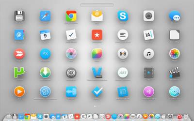 Yosemite style OS X icons