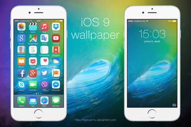 iOS 9 Color Wave Wallpaper by TigerCat-hu