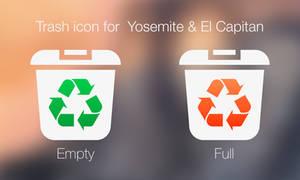 Trash icon for OS X Yosemite and El Capitan