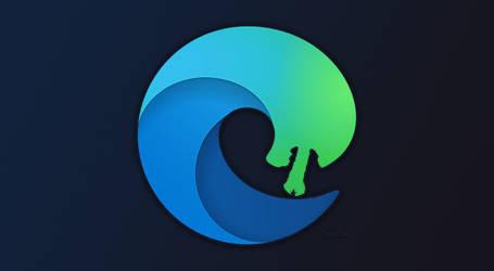 Microsoft New Edge browser logo - Alien