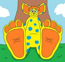 Freckles' Biggle Feet Tease