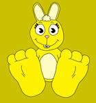 Candy's Rabbit Feet Tease