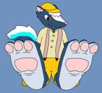 Kicks' Skunk Feet Tease