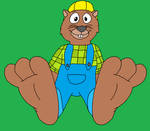 Tooth's Beaver Feet Tease