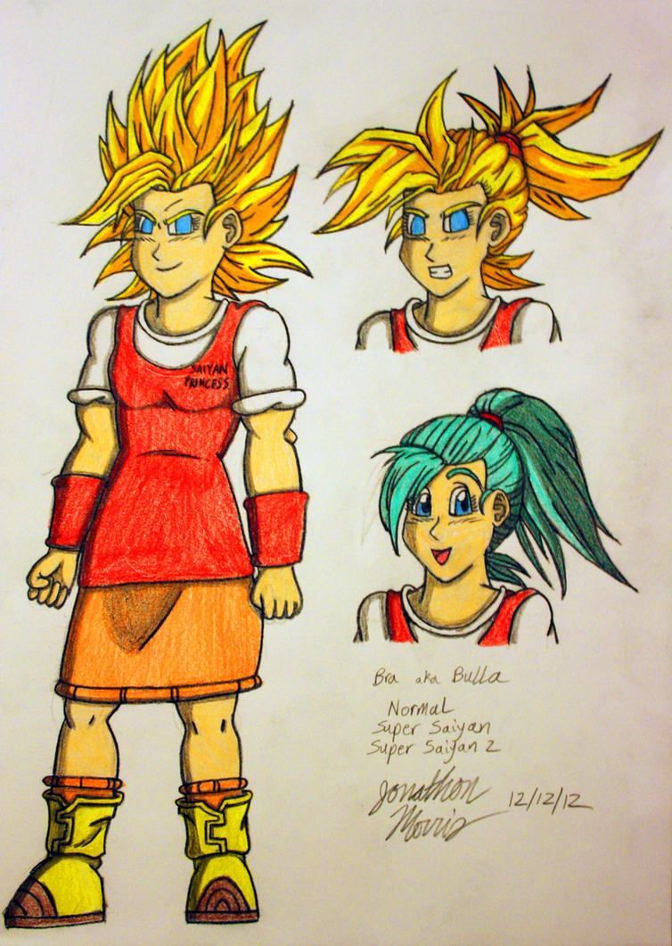 Bra (Bulla) - Normal, Super Saiyan, Super Saiyan 2 by JAM4077