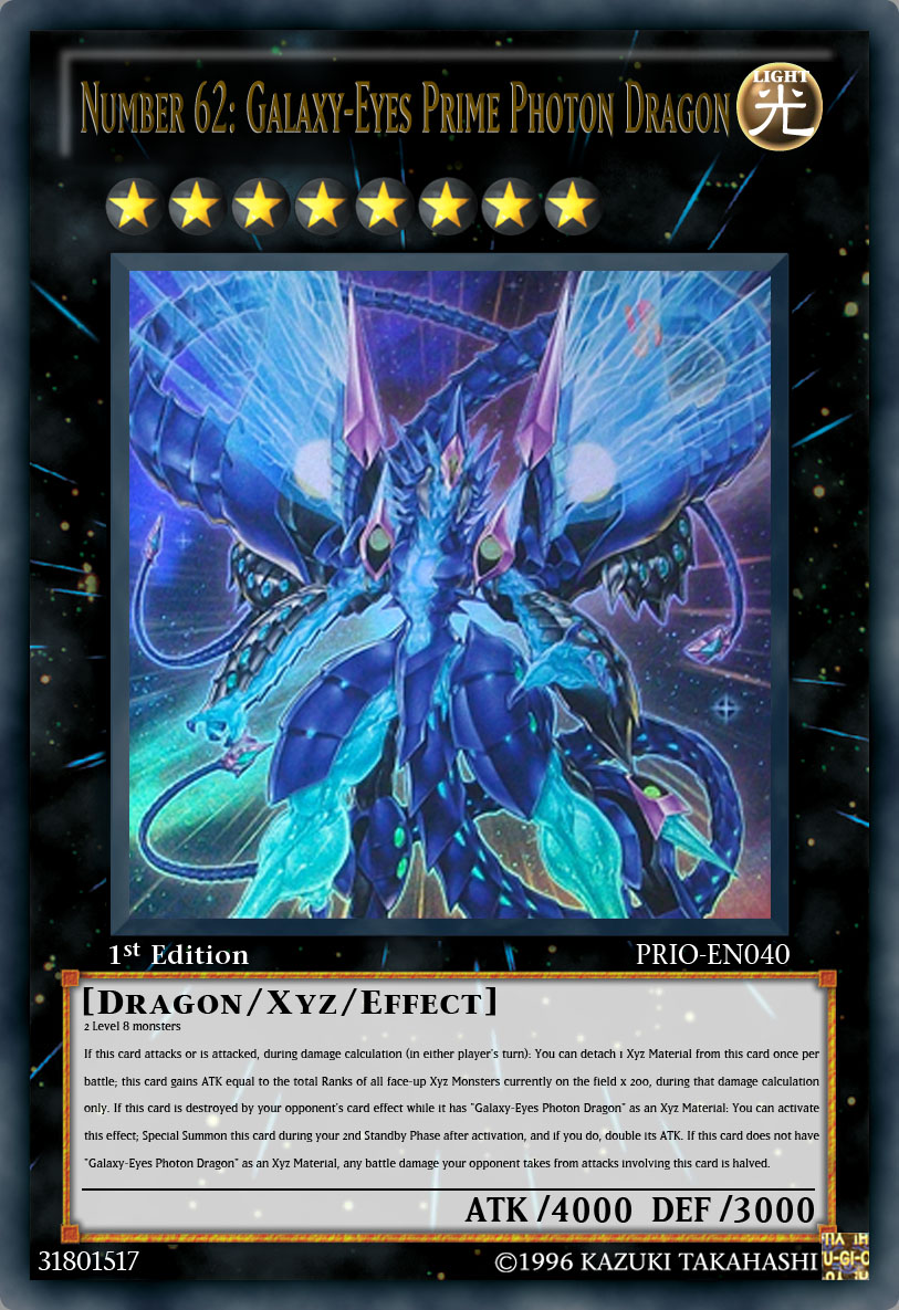 Number 62  Galaxy-Eyes Prime Photon Dragon by JAM4077Yugioh Number 62 Galaxy Eyes Prime Photon Dragon