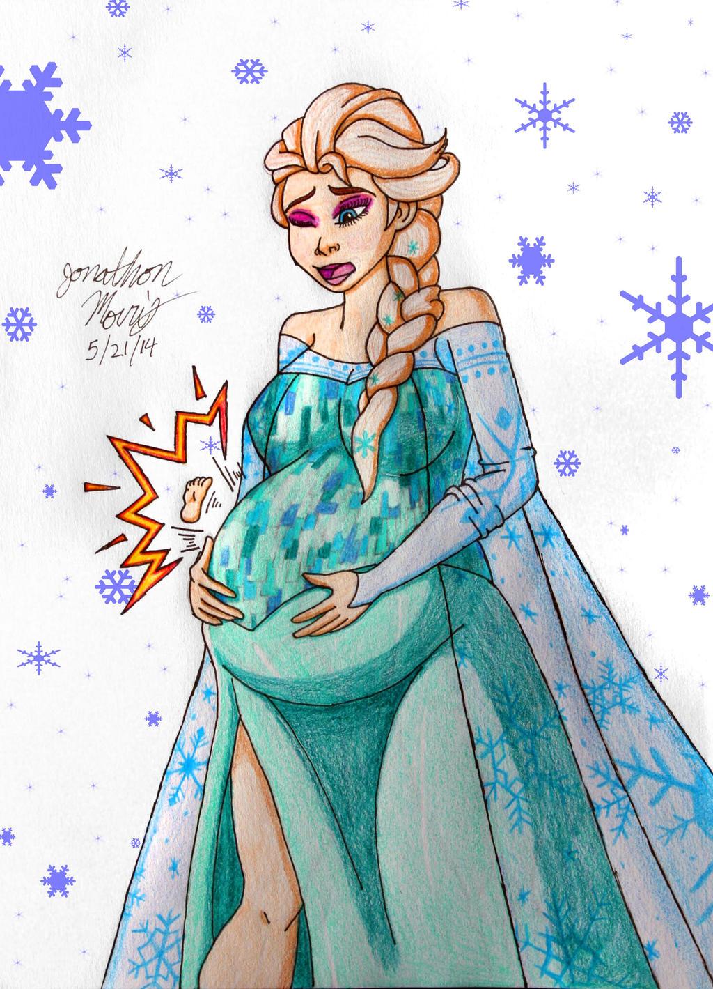 [Request] Pregnant Elsa by JAM4077 on DeviantArt