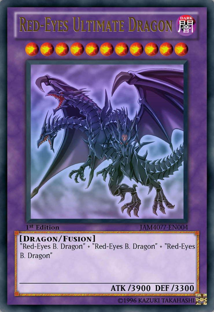 fan made red eyes ultimate dragon by jam4077 on deviantart
