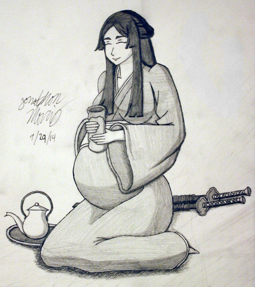 [Request] Pregnant and Enjoying Tea by JAM4077