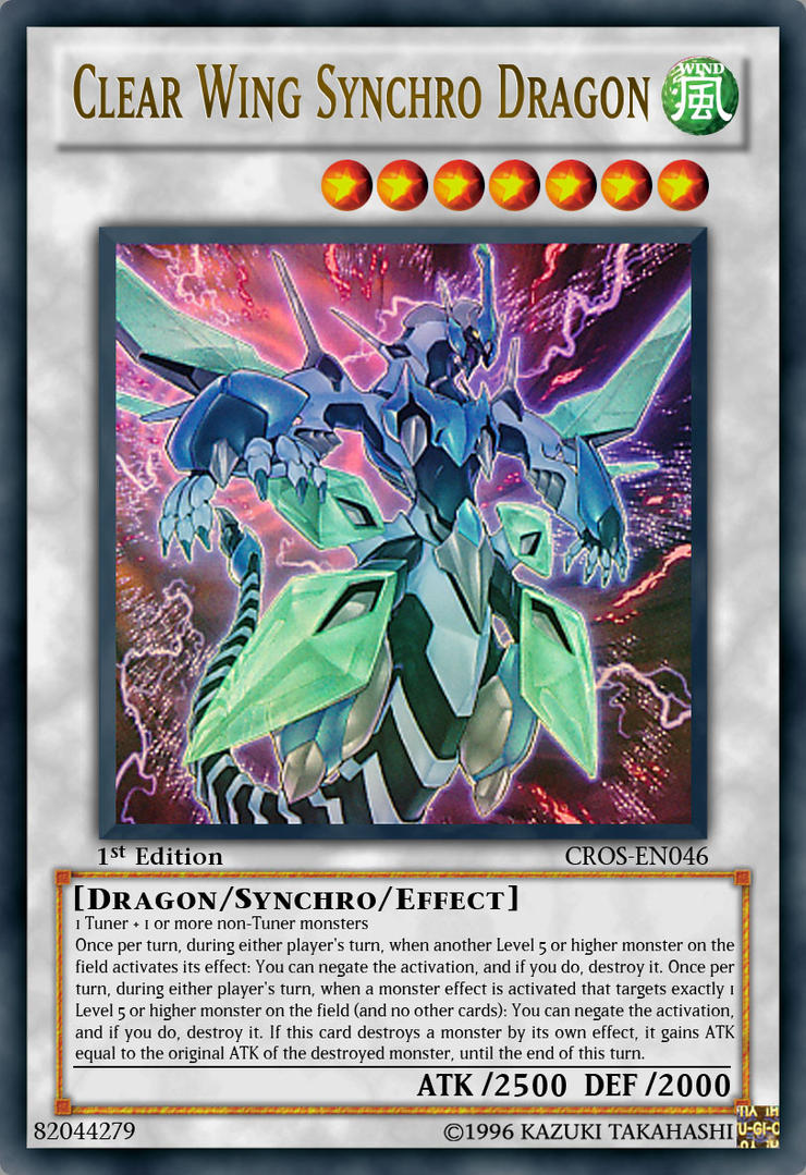 Clear Wing Synchro Dragon by JAM4077