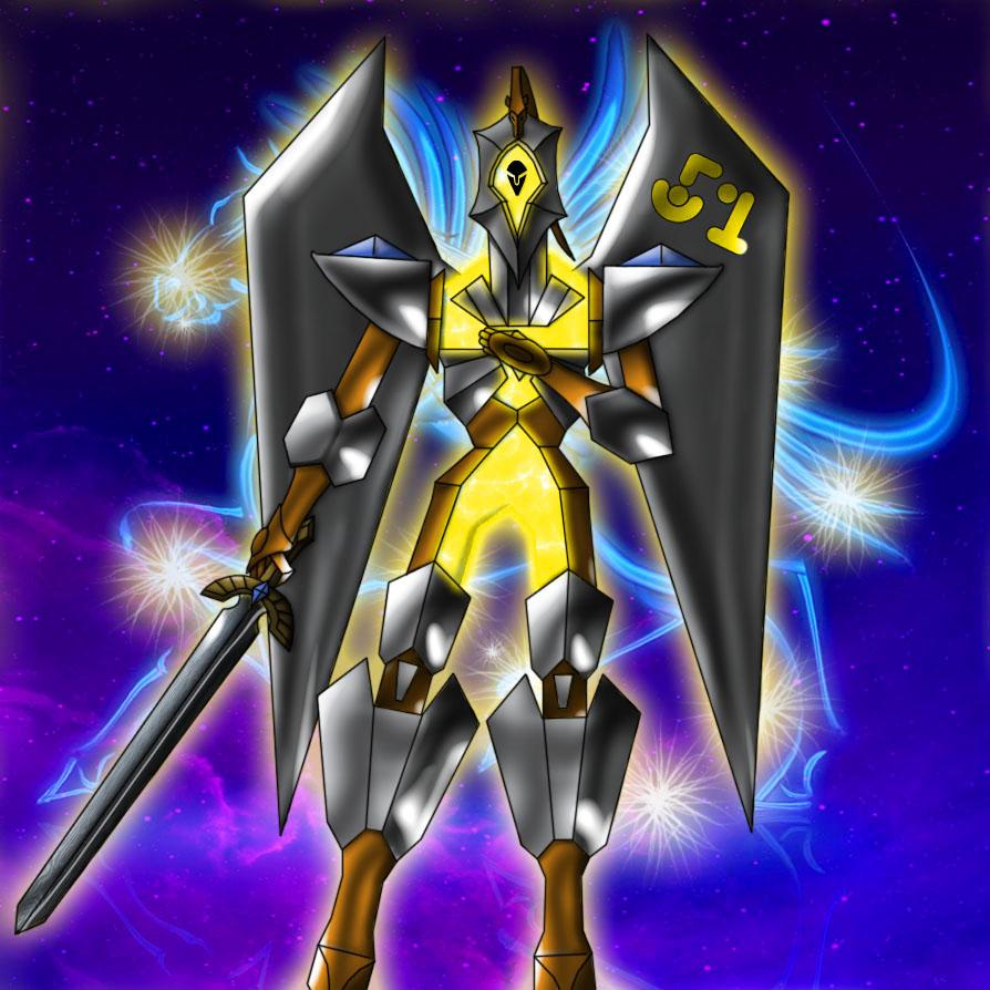 Number 51: Star Seraph Pegasus Rider artwork by JAM4077