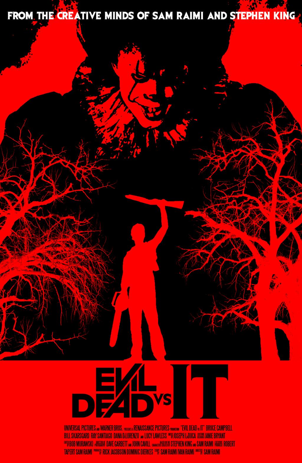 Evil Dead vs It Poster by JAM4077