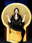 The Expecting Morticia Addams (Color)