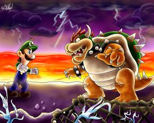 Giant Showdown: Luigi VS Bowser by Chris900J