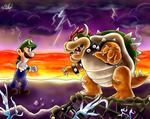 Giant Showdown: Luigi VS Bowser