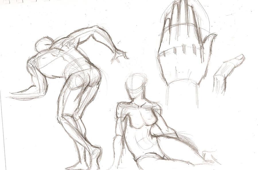 Figure drawing practice by navybluemanga