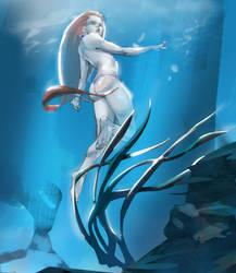 Mermaid Girl by NavyBlueManga