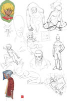 Sketch Dump by NavyBlueManga