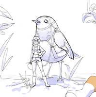 Birds of a Feather Wip by NavyBlueManga