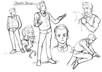 sketches by NavyBlueManga