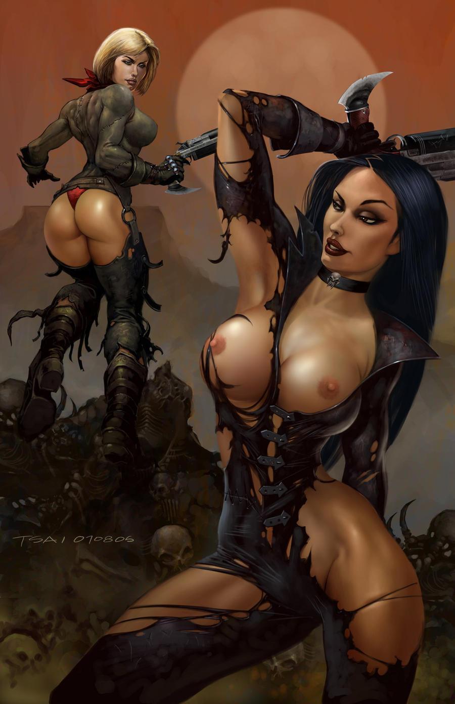 Рисованные голые девушки из компьютерных игр 11 фотография