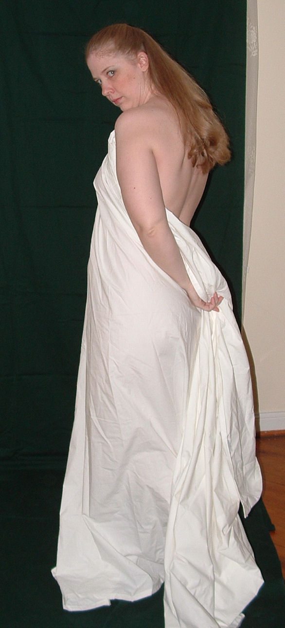 Girl in sheet stock 4 by FaeDuSoliel