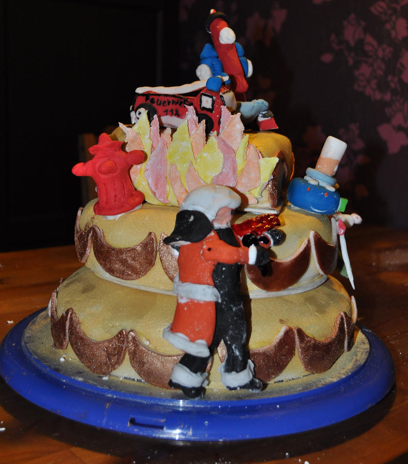 Firefighter Wedding Themes Ideas: Wedding Cake ^^ Firefighter Side By JesseSaphir On DeviantArt