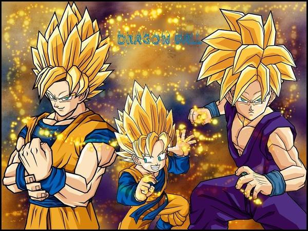 Goku, Gohan, Goten wallpaper by MissCath
