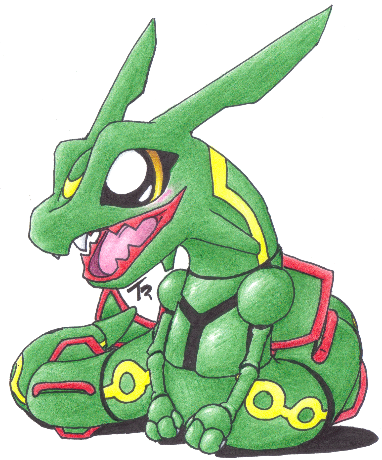Commission - Chibi Rayquaza by MotherGarchomp622 on DeviantArt