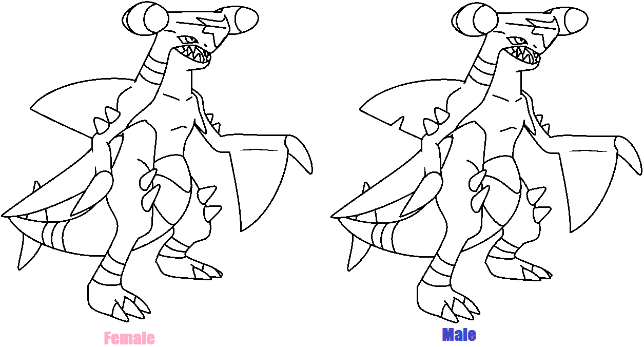 garchomps free colouring pages