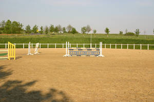 Show Jumping Riding Arena Stock by LuDa-Stock