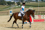 Cantering Show Jumping Event by LuDa-Stock
