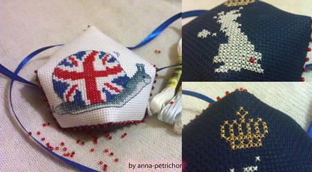 UK biscornu by Anna0789Evans