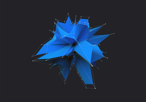 Blue Polygon