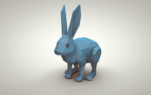 Blue Bunny (Low Poly) by error-23