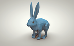 Blue Bunny (Low Poly)