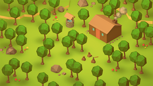 The Cabin (Low Poly Isometric)