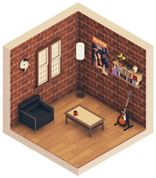 Urban Room #1 (Isometric) by error-23