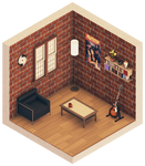 Urban Room #1 (Isometric)
