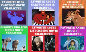(Movies) Favorite Types of Characters by oboeshoes16