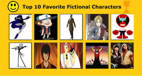 Top 10 Favorite Fictional Characters