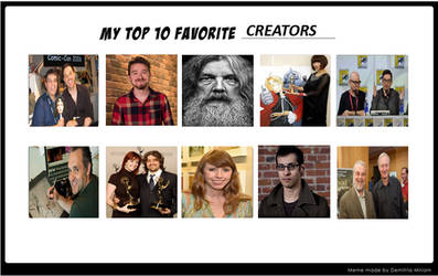 Top 10 Favorite Creators