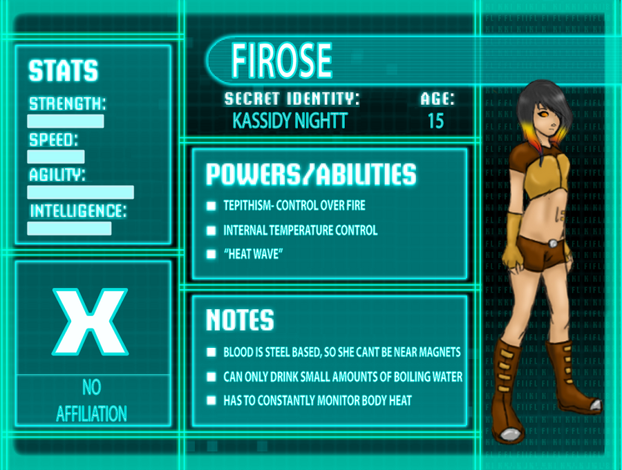 Young Justice Oc Firose Profile By Kaitann On Deviantart