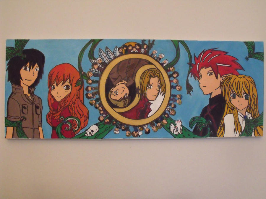 Canvas 2 Anime Characters : Anime mix canvas painting by mayuuri on deviantart