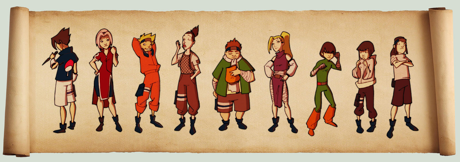 Naruto Lineup by AviKishundat
